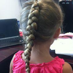 Reverse French braid
