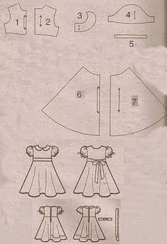 ARTE COM QUIANE - Paps,Moldes,E.V.A,Feltro,Costuras,Fofuchas 3D: moldes vestidos para crianças