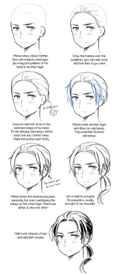 From an ask in my Hetalia tumblr asking for a Norway hair reference…