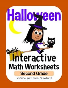 Halloween Interactive Math Worksheets Second Grade Common Core $