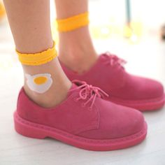 Egg socks ~ WTF? WHO THE HELL WOULD WANT THEM OR THOSE UGLY-ASS SHOES?