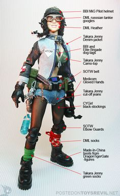 Tank Girl 1/6-scale action figure mashup!