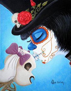 """Art by Al Molina """"Lil' Bella Loves Her Bones"""""""