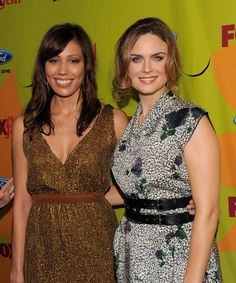 "Michaela Conlin and Emily Deschanel  I Love the show ""Bones"""