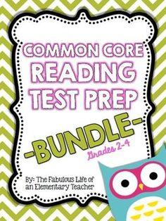 Common Core Reading Test Prep {Grades 2-4} BUNDLE