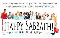 Blessed Sabbath Day.