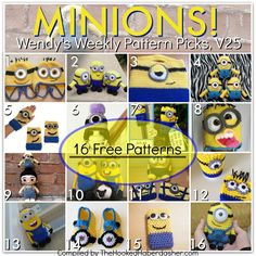 Minions ~ Wendy's Weekly Pattern Picks V25