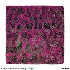 Pink and Black Geometric Trivets