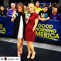 Hot mama and me! Ginger Zee, Amy Robach, Killer Legs, Celebs, Celebrities, Dresses For Work, Hot, Sexy, Instagram Posts