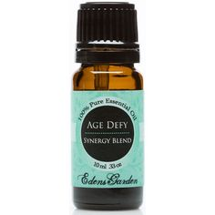 Age Defy Essential oil.  Age defy is a complex mixture of Frankincense, Helichrysum, Lavender, Myrrh, Rose and Sandalwood. Made with care from our top quality oils and, as always, Edens Garden essential oils are never diluted or mixed with additives.