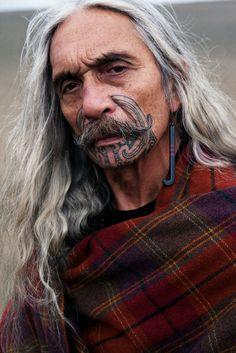 Mikaara Kirkwood for Te Rongo Kirkwood. Photographer: David K. Shields. Bethell's Dunes, NZ. #Maori #Moko