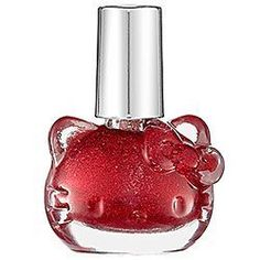 Hello Kitty Nail Polish Red Sparkle LIMITED EDITION >>> You can get more details by clicking on the image.