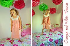 Love these pillowcase nightgowns using stretch lace.  So girly and easy to make!  Free pattern/tutorial.