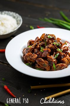 General Tso's Chicken Recipe - Chichilicious.com Health Smoothie Recipes, Health Foods, Slimming World Recipes Syn Free, Tso Chicken, Buttermilk Fried Chicken, Vegetarian Appetizers, Winner Winner Chicken Dinner, Bariatric Recipes, White Meat