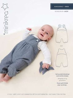 Playsuit - 10450 - Minikrea sewing pattern - newborn - 9mo | Simplifi Fabric