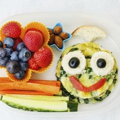 Funny Face Frittata with Rudi's Gluten-Free Bakery!