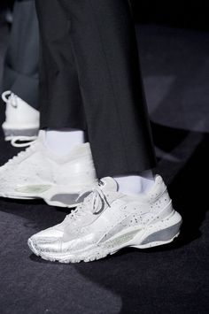 Valentino fall 2018 men's fashion show details - the impression valentino sneakers, valentino men, Men Fashion Show, Sport Fashion, Mens Fashion, Valentino Sneakers, Valentino Men, Embellished Shoes, Sport Chic, New Shoes, Designer Shoes
