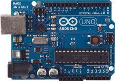 Adruino Board for robotics.    http://arduino.cc/en/Main/ArduinoBoardUno