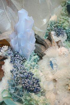 the post: Designer Spotlight: Visual Artist, Kathryn Godwin Under The Sea Theme, Under The Sea Party, Ocean Themes, Mermaid Birthday, Stage Design, Paper Art, Wax Paper, The Little Mermaid, Decoration