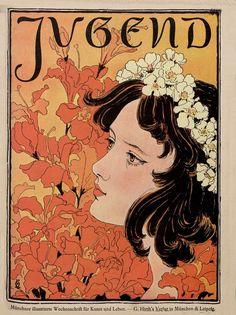 Jugend Magazine Cover 1896 Art Nouveau Illustration Reproduction Print