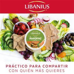 ¡Veggie Hummus, ideal para disfrutar en tus reuniones! #DipDeVegetales #Libanius #Nuevo Hummus, Cobb Salad, Veggies, Food, Reunions, Vegetable Recipes, Vegetables, Essen, Meals