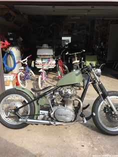 Bought this bike last winter painted it army green with some roachs on fender, did some work make it run smoother this winter I'll make it mine.  …