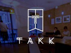 TAKK logo of a coffee house, Northern Quarter in Manchester – Studio DBD