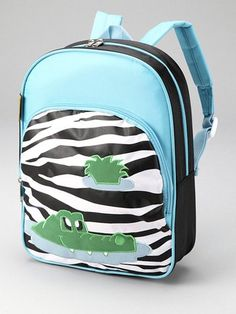 D And N Kids School Children Daycare Zebra Crocodile Backpack -- Be sure to check out this awesome product.(This is an Amazon affiliate link and I receive a commission for the sales)