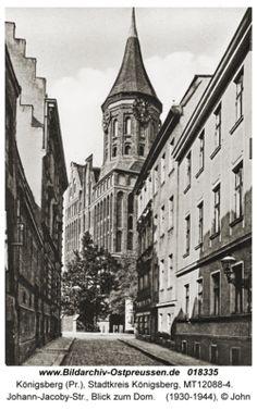 Königsberg, Johann-Jacoby-Str., Blick zum Dom