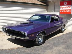 A real 426 HEMI Challenger and original Plum Crazy purple car, only 287 were made. A good body  with original body panels. Ground-up rotisserie restoration w...