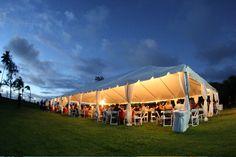 Royal Party Rental tent lighting