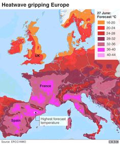 European countries set new June records amid heatwave - BBC News World Weather, Singles Events, Earth Surface, School Closures, French School, Places In Europe, Image Caption, The Day Will Come, Central Europe