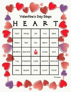 This special post on this website I show you 10 free and printable Valentine's Day bingo cards for kids. These bingo cards are clear and wel. Valentines Day Office, Valentine Bingo, Valentines Games, Valentine Activities, Valentines Gifts For Boyfriend, Valentines Day Party, Valentines For Kids, Valentine Ideas, Valentine Nails