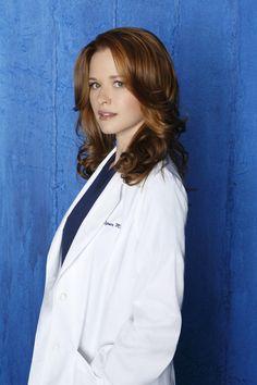 April Kepner [Sarah Drew] I don't like her character, but I do love her hair!!