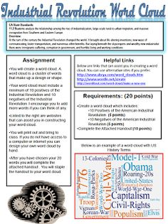 Printables Industrial Revolution Worksheet this multiple choice quiz on the first industrial revolution word cloud sandoval lesson us history 11th grade high school