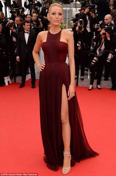 !!!!!!!! Legs go! Blake Lively wowed at the opening night of Cannes Film Festival on Wednesday evening