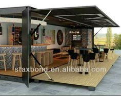 Storage container bar
