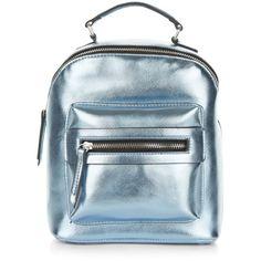 Blue Pocket Front Mini Backpack (387.075 VND) ❤ liked on Polyvore featuring bags, backpacks, backpack, pale blue, faux leather bag, vegan backpack, blue rucksack, blue bag and mini bag