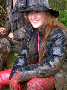 Explore twistedhelly photos on Flickr. twistedhelly has uploaded 765 photos to Flickr. Mudding Girls, Puffy Jacket, Confident Woman, Rain Wear, Girl Photos, Leather Pants, My Style, Latex, Women's Fashion