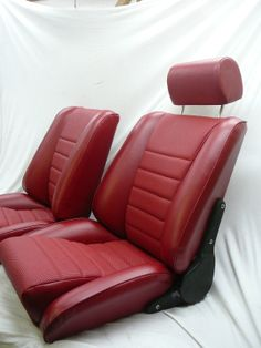 our 'Sport S' seats in leatherette w seat heaters. Remake of the Recaro Ideal.Classic Car Seats by GTS classics.