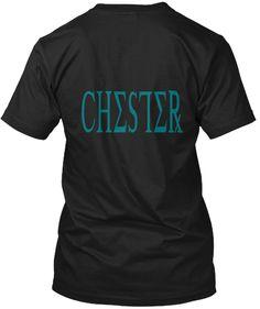 Chester Black T-Shirt Back