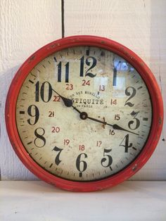 Vintage rustic style clock  $48 wrought iron with glass face    SOLD $20 to a good friend