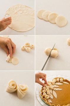 These Three Easy Pie Crust Designs Are Almost Too Pretty to Eat - Desserts Easy Pie Crust, Pie Crust Recipes, Pie Dessert, Dessert Recipes, Cake Recipes, Creative Pie Crust, Beautiful Pie Crusts, Pie Crust Designs, Pie Decoration