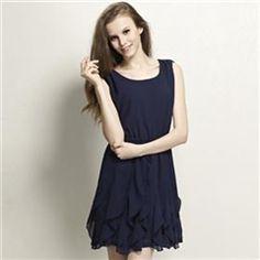 CHERRYDRESS Falbala Chiffon Dress For Women $25.00 http://www.4leafcity.com/cherrydress-falbala-chiffon-dress-for-women-product-30004.aspx