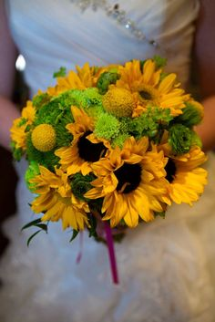 Love the look of sunflowers?  Here is a very elegant take on a simple, summer flower.  Love it!