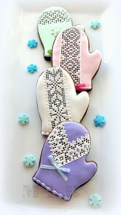 My little bakery :): galletas de Navidad ... Mittens ..