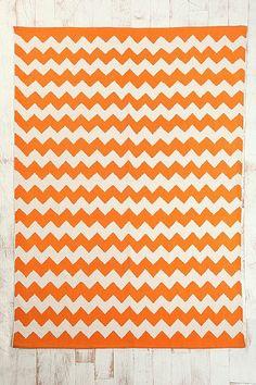Orange zig zag rug from Urban Outfitters Cabana, Chevron Rugs, Stripe Rug, Nursery Rugs, Nursery Furniture, Orange Rugs, My New Room, Baby Decor, Zig Zag
