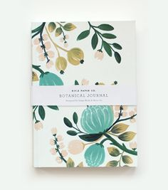 Love all products made at Rifle Paper design studio. Botanical Journal from Rifle Paper Co. <3