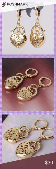 Heart Shape Huggable Dangle Earrings ⭐️ADORABLE Heart Shape 14K Gold Filled Huggable Dangle Earrings. Matching bracelet available in closet too! Dress these up or wear with jeans and a t-shirt! Exceptional quality!⭐️ Boutique Jewelry Earrings