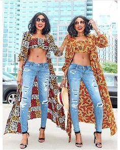 Twin goals @dpipertwins feeling cultured in Ankara prints------------ #Fashion #Style #Design #Ankaradress #Ankarastyles #Africanprints #Twining #Twinslayers #Womenfashion #YellowUrban